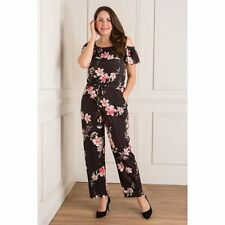 Styled By,Size 12- 14 M, Bardot Frill Print Cold Shoulder Floral Jumpsuit,Bnwt