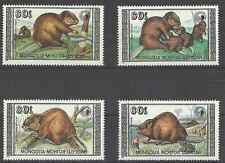 Timbres Animaux Mongolie 1632/5 ** lot 11955