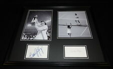 Billie Jean King & Bobby Riggs Signed Framed 16x20 Battle of the Sexes Photo Set