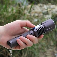 WindFire Tactical 5 Modes CREE XM-L2 LED 2000Lumens USB Rechargeable Flashlight
