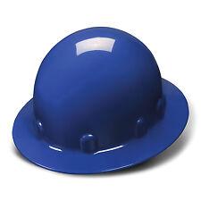 Pyramex Hard Hat Blue SLEEK FULL BRIM With 4 Point Ratchet Suspension, HPS24160