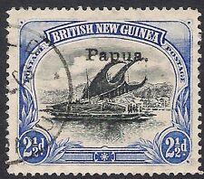 "Papua Lakatoi 2.5d Small ""Papua"" ovpt. wmk horizontal Fine Used"