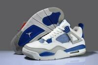 Hot J 4 Men's breathable basketball shoes Size 7-13 High Top State White Blue sz