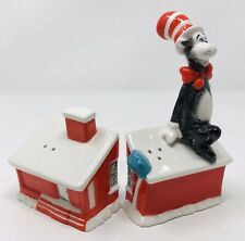 Dr Seuss Cat in the Hat House Salt Pepper Shakers New