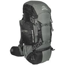 Highlander Discovery 65 Hiking Backpack Trekking Pack Travel Rucksack 65L Black