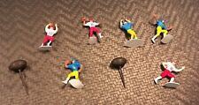 Vintage Football Player Cake Toppers, Plastic figures, NFL, 1974