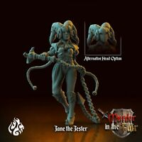 JANE THE JESTER  SCALE 32mm  DnD ROL WARHAMMER SKYRMISH ZOMBICIDE