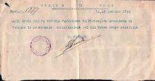 FOGLIETTO CON SCRITTA E FIRMA DEL SINDACO DI ONZO - 23 GENNAIO 1948 C10-854