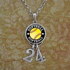 Softball Number Necklace/ custom