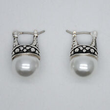 premier designs jewelry pearl earrings vintage silver plated for woeman pattern