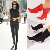 Ladies Womens High Stiletto Heel Ankle Boots Fashion Party Evening Casual Shoes