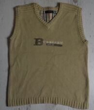 Burberry Children Knit Sweater Vest Size 12 Beige Kids V Neck Pullover