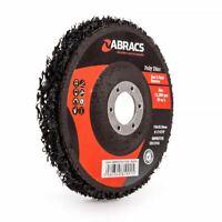 "ABRACS 125mm (5"") ABRASIVE POLY STRIP SANDING DISC - Various Packs of Discs"