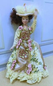 Dollhouse Miniature Pose - able Dressed Victorian Porcelain Lady Doll