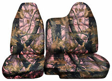 CC 98-03 FORD RANGER TREE CAMO CAR SEAT COVERS 60/40 SPLIT BENCH W/MOLDED HR #35