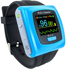 CMS50FW Wrist Pulse Oximeter with Bluetooth, OLED Display, Alarm, Rechargeable