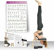 Feetup Trainer Yoga Headstand Bench Feet up Inversion Fitness Exercise Violet
