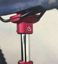 "Von Giese VG BMX SEAT GUTS CNC Aluminum for 7/8"" Post Made USA RED Haro SE GT"