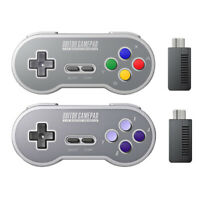 8Bitdo SF30 SN30 2.4G Wireless Controller with Retro Receiver for SNES and SFC