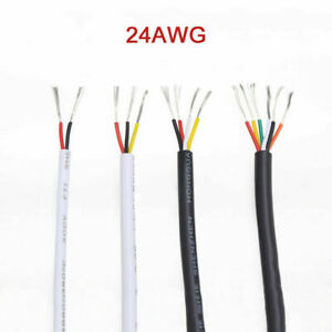 2/3/4/6 Core PVC Sheathed Cable 24AWG UL2464 Signal Control Flexible Copper Wire