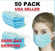 50 PCS Face Mask Surgical Dental Disposable 3-Ply Ear-loop Mouth Cover