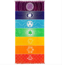 7 Chakras colors mandalas Wall Hanging Tapestry stripes boho home decor yoga