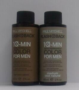 PAUL MITCHELL FLASH BACK Demi-Permanent 10 Min Color For Men ~ 2 fl oz/ 60 mL
