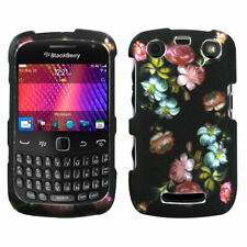For Blackberry Curve 9360 Lizzo Blooming Flowers (2D Silver) Case Cover
