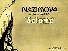 Pubblicità TEATRO STADIO Play Oscar Wilde SALOME nazimova poster stampa lv1207