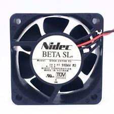 Nidec D06A-24TS8 24V 0.15A 6025 6cm 2pin ultra-quiet cooling fan