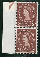 S38m 2d Wilding with listed variety - double trumpet UNMOUNTED MINT/MNH