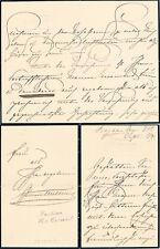Austria Princess Pauline von Metternich 1836-1921 autograph condolence letter