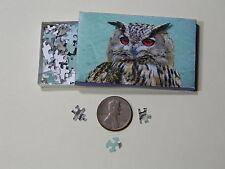 """Mini Jigsaw Puzzle 100 piece 1:12 """"Wise Owl"""""""