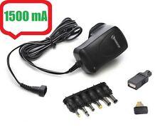 AC DC 1500mAh Universal Mains Plug Power Supply Charger Adapter Adaptor 3v - 12v