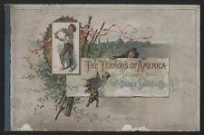 1880s W. Duke & Sons THE TERRORS OF AMERICA Tobacco Card Album (No Cards)