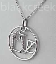 925 Sterling Silver Love Circle Pendant with 16-17 Inch Adjustable Necklace