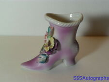 Vintage UCAGCO CHINA Hand Painted Japan CERAMIC HIGH HEEL ROSES SHOE FLOWER Shoe