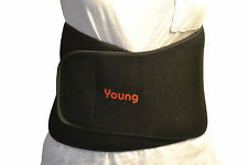 "Adjustable Lumbar Brace for Lower Back Pain - One Size - Neoprene - 39""L x 8""H"