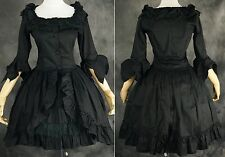 M-522 Gr. M schwarz black Cosplay Gothic Lolita Kleid Damen Kostüm dress Anime