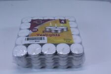 125 Pack White Tealight Candles 6 Hour Paraffin Pressed Wax Smokeless Unscented