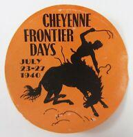 Vintage Cheyenne Wyoming Frontier Days Luggage Label Travel Decal 1940 Original