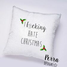 Christmas Sequin Square Decorative Cushions