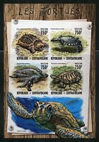CENTRAL AFRICA  2016 TURTLES IMPERFORATE SHEET MINT NH