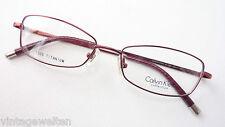 Calvin Klein federleicht Titanfassung Brille Gestell bordeaux nickelfrei size M.