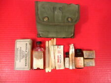 WWII Era US Army USMC Corpsman's Jungle First Aid Kit & Belt Pouch - Dated 1944