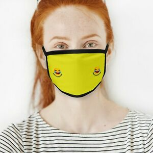 Emoji Face Mask Cover Protective Covering Washable Reusable