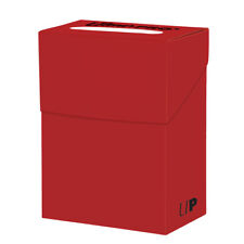 Ultra Pro Deck Box For Collectible Gaming Cards (RED) Holds Cards In Sleeves