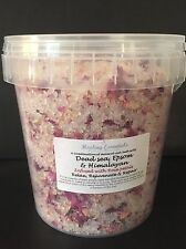 Mineral Rich Bath Salts Infused With Rose Petals 100% Pure Natural Minerals/ Spa