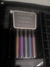 American Crafts Metallic  markers set 5 - Medium point New in damaged package