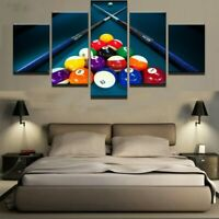 Snooker Pool Sports Billiards Canvas Prints Painting Wall Art No Frame 5 Pieces